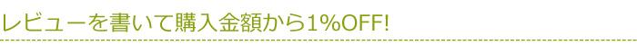 レビューを書いて購入金額から1%OFF