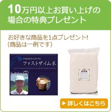 10万円以上お買い上げの場合の特典プレゼント