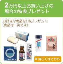2万円以上お買い上げの場合の特典プレゼント